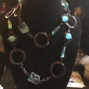 Jewelry - CUTE TEAL AND BLACK NECKLACE